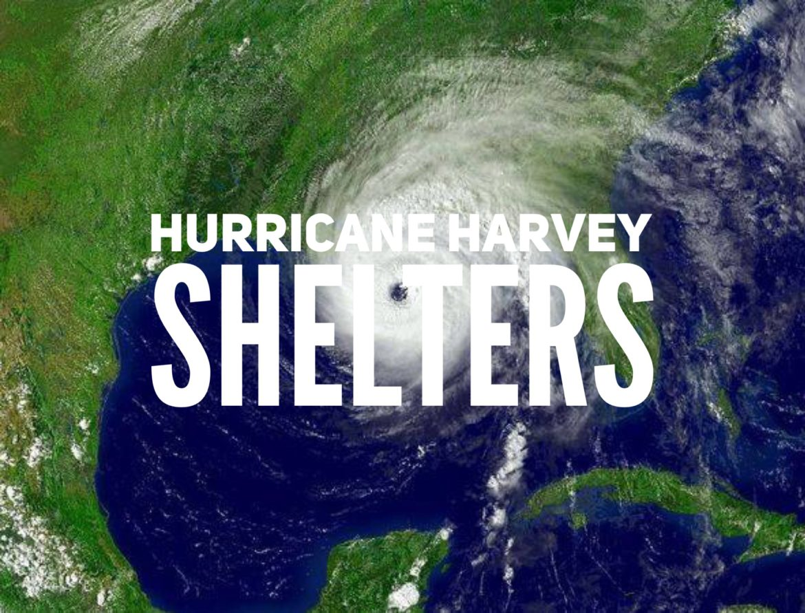 full list of hurricane harvey shelters